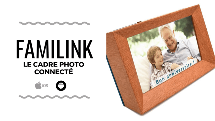 start-up - cadre photo connecté familink