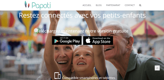 Start-up - Papoti l'application mobile