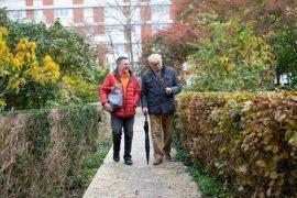 Un auxiliaire de vie s'occupe d'une personne âgée, pour laisser du répit à l'aidant familial