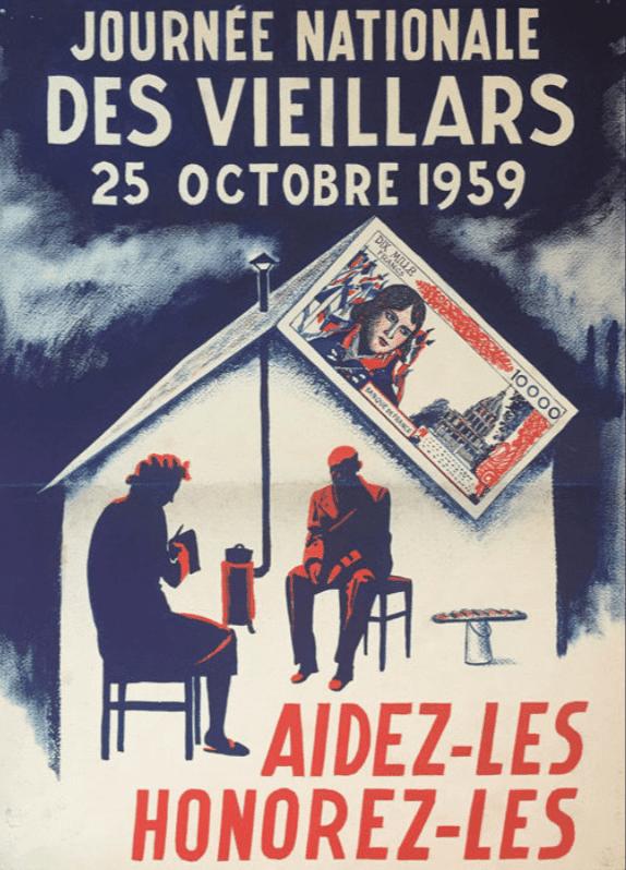 Affiche de présentation de la journée des vieillards
